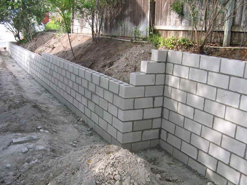 cinder block retaining wall Las Vegas