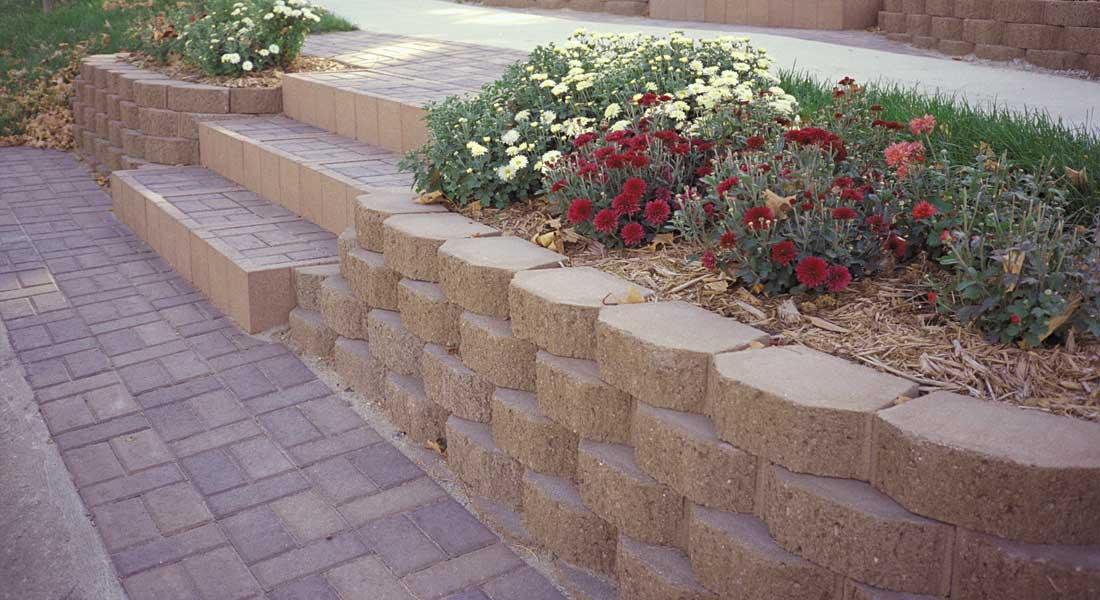 concrete block retaining wall Las Vegas
